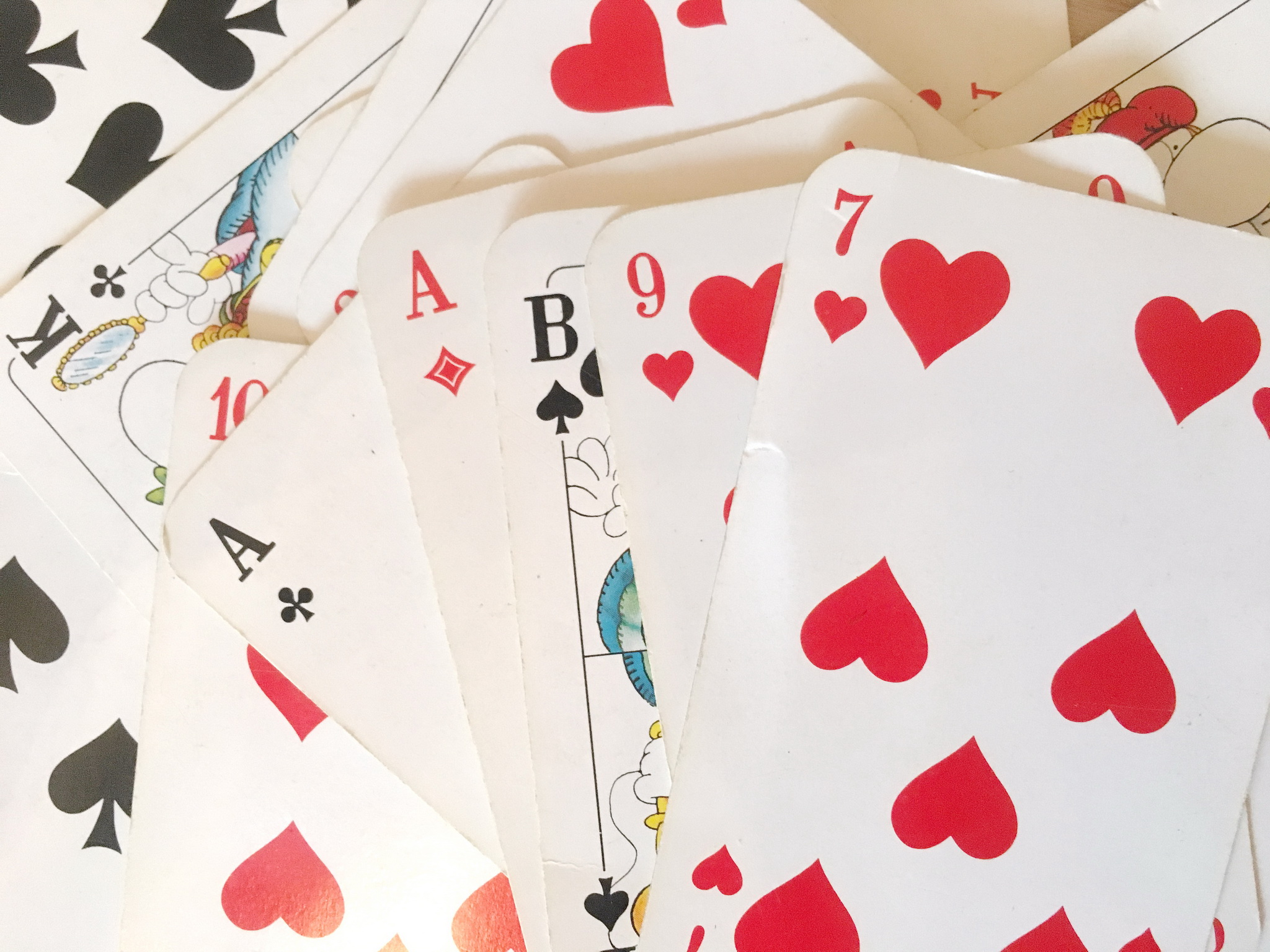 some playing cards