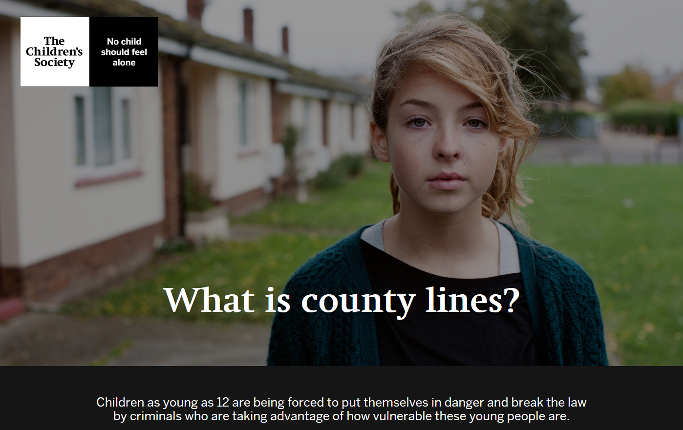 "Text ""What is Country Lines?"" with image of young girl behind."