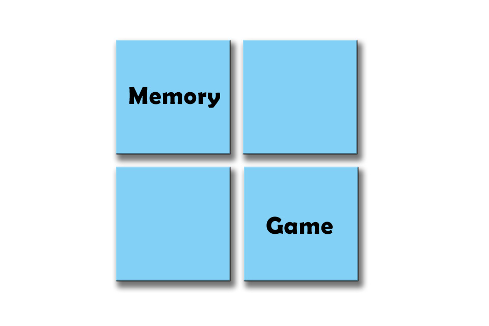 Spellings Memory Game, Green Week 1