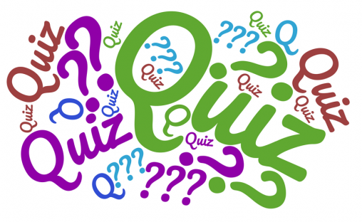The word Quiz as a graphic