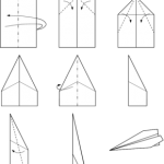 Step by step visual instructions on folding a paper airplane.