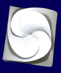 top view of a paper gift box