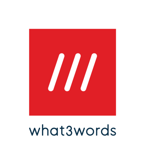 what3words logo red square with 3 white slashes